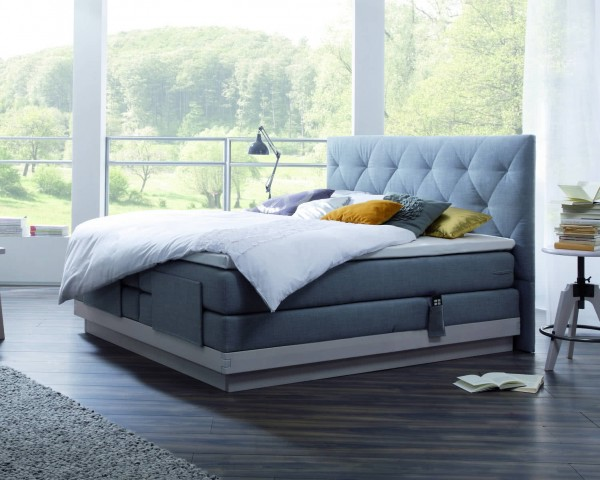 Gel Boxspringbett Holz Massiva Rocc/Paris XL
