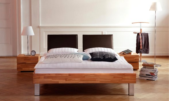 wasserbett oder gelbett komplett wood line mit palma kopfteil inkl mico f e. Black Bedroom Furniture Sets. Home Design Ideas