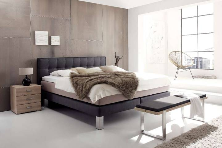 boxspringbett lille l modern wasserbettmatratzen und gelmatratzen. Black Bedroom Furniture Sets. Home Design Ideas