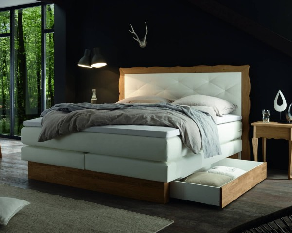 Gel Boxspringbett Holz Boxspringbett Solution Bettkasten Montana